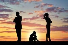 Конфликт и развод в семье стоковое фото