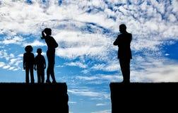 Конфликт и развод в семье Стоковое фото RF