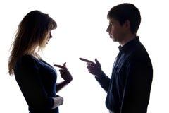Конфликт пары когда бои для одного ` s выпрямят Стоковое фото RF
