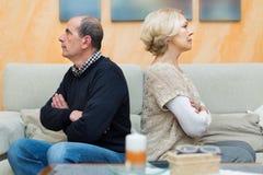 Конфликт семьи в старших парах Стоковое Изображение RF