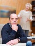 Конфликт семьи в старших парах Стоковое Изображение