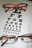 2 конца-вверх диаграммы eyeglasses и глаза на светлой предпосылке Стоковое фото RF
