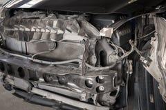 Конца фронт вверх - автомобиля на аварии Стоковые Изображения RF