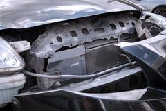 Конца фронт вверх - автомобиля на аварии Стоковое Изображение RF