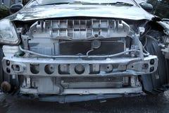 Конца фронт вверх - автомобиля на аварии Стоковые Фотографии RF
