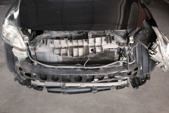 Конца фронт вверх - автомобиля на аварии Стоковая Фотография RF