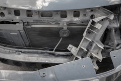 Конца фронт вверх - автомобиля на аварии Стоковое Изображение