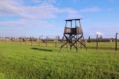 Концентрационный лагерь Освенцима-Birkenau стоковое изображение