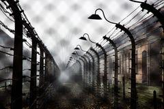 Концентрационный лагерь Освенцим Стоковые Фото