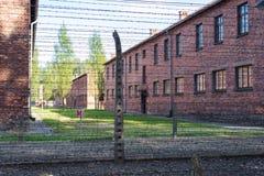 КОНЦЕНТРАЦИОННЫЙ ЛАГЕРЬ AUSCHWITZ-BIRKENAU, ПОЛЬША - ИЮНЬ 2017: Концентрационный лагерь Освенцим в Польше E стоковая фотография