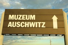 Концентрационный лагерь auschwitz-Birkenau Стоковое Изображение