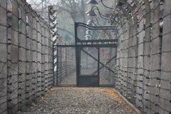 концентрация лагеря auschwitz Стоковые Изображения