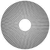 Концентрическая брошенная линия объезжает - абстрактный геометрический элемент на w бесплатная иллюстрация