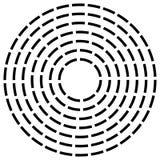 Концентрическая брошенная линия объезжает - абстрактный геометрический элемент на w Стоковое Изображение