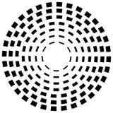 Концентрическая брошенная линия объезжает - абстрактный геометрический элемент на w иллюстрация штока