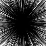 Концентрическая круговая картина Случайный взрыв, излучающ, радиальное ele иллюстрация вектора