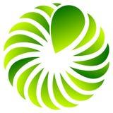 Концентрическая форма лист для природы, экологических концепций иллюстрация вектора