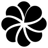 Концентрическая форма лист для природы, экологических концепций Стоковое Изображение RF
