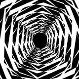 Концентрические геометрические шестиугольники/восьмиугольники Абстрактное PA monochrome Стоковое Изображение RF