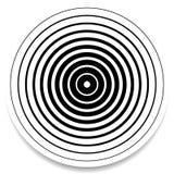 Концентрические круги, геометрический элемент колец абстрактный Пульсация, im иллюстрация штока