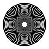 Концентрические круги, концентрические кольца Абстрактные радиальные графики иллюстрация вектора