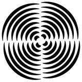 Концентрические круги отрезали в квартале - абстрактном monochrome radiat Стоковые Фотографии RF