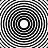 Концентрические круги, радиальные линии картины Monochrome конспект Стоковые Фотографии RF