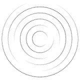 Концентрические круги с брошенными линиями Круговой спиральный элемент Стоковое фото RF