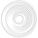 Концентрические круги с брошенными линиями Круговой спиральный элемент Стоковое Фото
