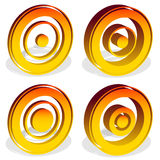 Концентрические круги, яблочко, перекрестие, перекрещение, метка i цели иллюстрация вектора