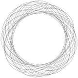 Концентрические скачками круги, круговой элемент с случайным scrib иллюстрация вектора