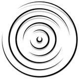 Концентрические случайные круги с динамическими линиями Круговая спираль, s Стоковое фото RF