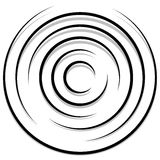 Концентрические случайные круги с динамическими линиями Круговая спираль, s Стоковые Изображения RF