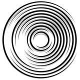 Концентрические случайные круги с динамическими линиями Круговая спираль, s Стоковое Фото