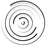 Концентрические случайные круги с динамическими линиями Круговая спираль, s Стоковая Фотография