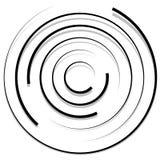 Концентрические случайные круги с динамическими линиями Круговая спираль, s Стоковые Изображения