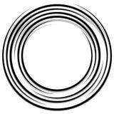 Концентрические случайные круги с динамическими линиями Круговая спираль, s Стоковое Изображение