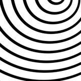 Концентрический, излучающ круги, кольца Радиальный абстрактный элемент Стоковое Изображение