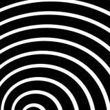 Концентрический, излучающ круги, кольца Радиальный абстрактный элемент Стоковое Фото