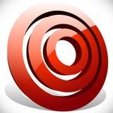 Концентрический, radial объезжает родовой значок, элемент дизайна Стоковая Фотография RF