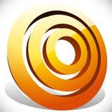 Концентрический, radial объезжает родовой значок, элемент дизайна Стоковые Изображения RF