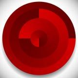 Концентрический, radial объезжает родовой значок, элемент дизайна Стоковые Фото