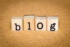 Концепции блога Стоковые Фотографии RF