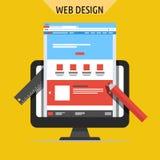 Концепции веб-дизайна и развития иллюстрация штока
