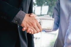 Концепции взяточничества и коррупции Стоковые Изображения RF