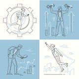 Концепции дела - комплект линии иллюстраций стиля дизайна Иллюстрация вектора