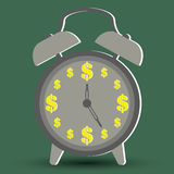 Концепции денег с временем деньги Стоковое Изображение