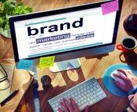 Концепции идей бренд-маркетинга словаря цифров Стоковое Изображение RF