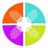 Концепции круга с infographics значков Стоковые Изображения RF