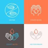 Концепции донорства крови, медицины и здравоохранения иллюстрация штока
